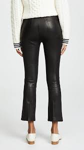 jeans the cropped bootcut leather pants