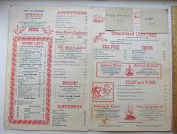 Restaurant Menu The Lobster HOuse On ...