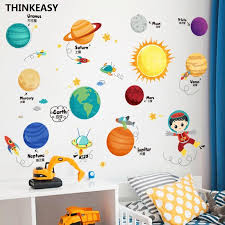 Space Solar System Wall Sticker Removable Pvc Decals Stickers Bedroo Space Toy Store