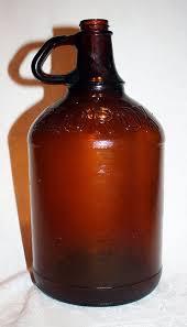 amber glass clorox bleach bottle