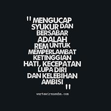 mengucap syukur dan bersabar adalah quote of the day