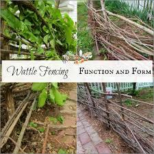 Diy Wattle Cheap Garden Fence Homestead Lady