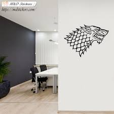 Wall Stickers Vinyl Decal Winterfell Stark Wolf M D Stickers