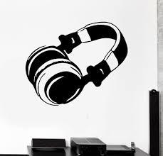 Modern Vinyl Decal Headphones Pop Rock Music Wall Sticker Living Room Wall Art Headphone Home Decoration Adesivo Ny 261 Music Wall Sticker Wall Stickerwall Sticker Living Room Aliexpress
