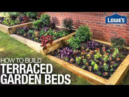 terraced garden bed on a slope