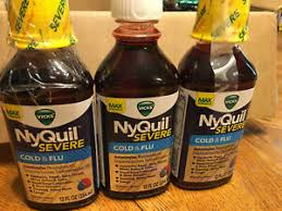 flu nighttime relief liquid 12fl oz