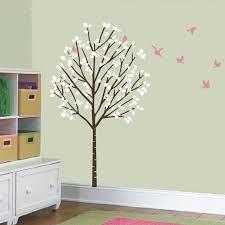 Size 100x175cm Large Forest Tree Birds Vinyl Wall Decals Girl Nursery Ellaseal