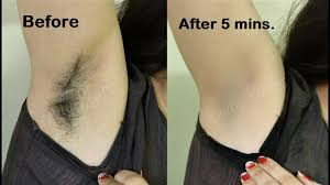 shave remove underarms hair at home