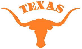 Ncaa0389 Texas Longhorns Steer Logo Die Cut Vinyl Graphic Decal Sticker Ncaa