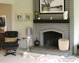 grey painted fireplace