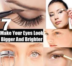 eyes look bigger and brighter