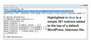 wordpress 301 redirects tutorial