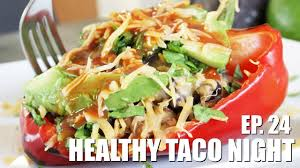 healthy taco night taco bell peppers