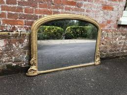 antique overmantle mirror french