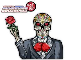 Day Of The Dead Sugar Skull Day Of The Dead Waving Wipertag Decal For Rear Wiper Blades Wipertags