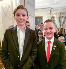 Barron Trump with a friend at a White ...