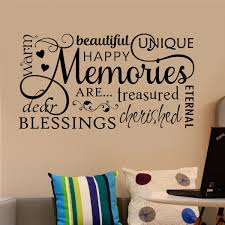 Home Wall Decal Family Memories Word Collage