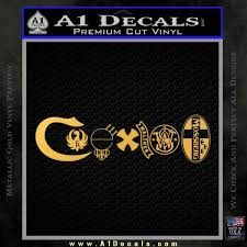 Coexist Firearms Decal Sticker A1 Decals
