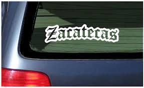 Zacatecas Pride Car Window Fun Sticker Latin Mexican State Mexico Orgullo Ebay