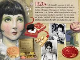 1920s makeup starts the cosmetics