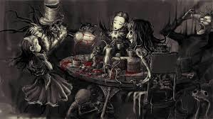 gothic alice in wonderland blood