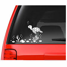 Sea Turtle And Shells Decal Waterproof Sticker White Car Stickers Vinyl Decal For Window Dool Wall Laptop 1pc Car Styling Decal Sticker Decals For Carsfor Car Aliexpress
