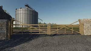 Wooden Gates Fences And Stone Walls V1 0 0 0 Fs19 Farming Simulator 17 2017 Mod