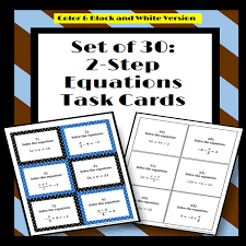 solving two step equations 30 task