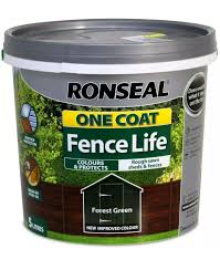 Ronseal 5l One Coat Life Quick Dry Garden Shed Fence Paints 5 Litres All Colours Forest Green Buy Online In India Ronseal Products In India See