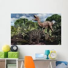 Armored Ankylosaurus Protecting Itself Jungle Wall Decal Wallmonkeys Com