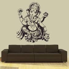 Buddha Dance Indian Hinduism Wall Sticker Home Decor Wall Decal Elephant Ganesh Buddhism India Namaste Lotus Om Yoga God D570 Decorative Wall Decal Wall Stickerwall Decals Aliexpress