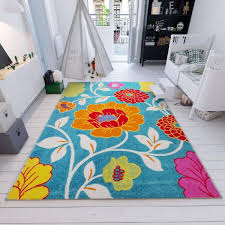 Well Woven Starbright Daisy Flowers Blue 3 Ft X 5 Ft Kids Area Rug 09264 The Home Depot