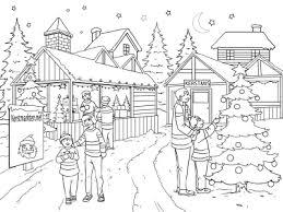 Kerst Kerstmarkt Kleurplaten Voor Kinderen En Volwassenen 2019