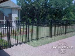 A Wonderful Image Of Our 5 Foot Infinity Aluminum Fence And Gate Surrounding A Residential Home Fence Design Aluminum Fence Fence