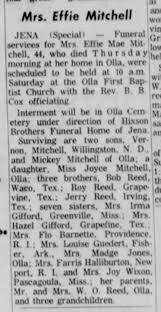 Mrs Effie (Reed) Mitchell obituary - Newspapers.com