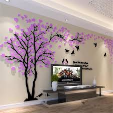 1pcs 250x130cm 3d Texture Acrylic Tree Tv Setting Wall Decal Living Room Trees For Walls Stickers Warmth Home Decor Wall Decal Wall Stickers Aliexpress