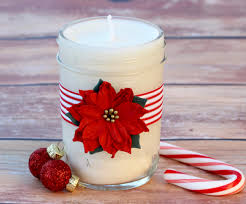 homemade soy candles gift in a jar