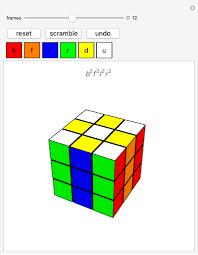 rubik s cube wolfram demonstrations