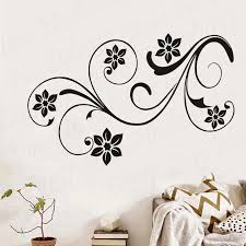 Lovely Floral Design Flowers Wall Stickers For Girls Room Wall Decor Vinyl Removable Wall Art Decals Home Decoration Wl957 Wall Stickers Aliexpress