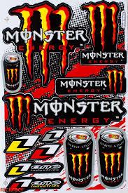 Orange Monster Energy One Industries Claws Sticker Decal Supercross Motocross Bike Atv Bmx Racing Skateboar Monster Energy Fox Racing Logo Monster Energy Drink