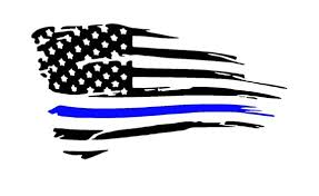 Tattered American Thin Blue Line Vinyl Decal Back The Blue Etsy