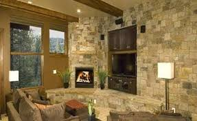 stone corner fireplaces designs