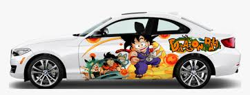 Dragon Ball Anime Car Body Door Vinyl Sticker Graphics 2017 Bmw 3 Series Coupe White Hd Png Download Kindpng