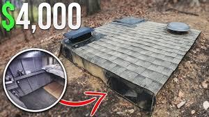 4000 homemade underground fort bunker