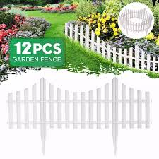12pcs Plastic Garden Border Fencing Fence Pannels 610x330mm Outdoor Landscape Decor Edging Yard Easy Install Insert Ground Type Lazada Ph