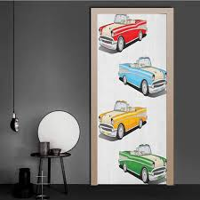 Amazon Com Manly Door Decal Collection Of Four Classic Car Roadsters Old Fashioned Transportation Illustration Personalized Door Sticker Multicolor For Home Decor Art 36 X 79 Baby