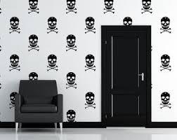 Skeleton Wallpaper Etsy