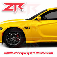 Custom Dodge Charger Dripping Hemi Emblem Vinyl Decals Ztr Graphicz