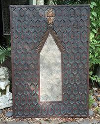 sumatran handcrafted wood wall mirror