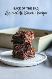 bag ghirardelli brownies recipe